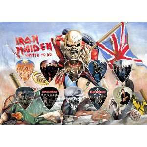 Iron Maiden (The Trooper) Guitar Pick Display Limited 100