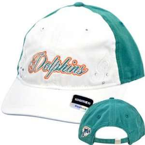 NFL Miami Dolphins White Teal Relaxed Fit Women Ladies