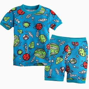 NEW Vaenait Baby Toddler Kids Girl Boy Short Sleeve Sleepwear Set