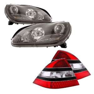 00 05 Mercedes S Class W220 Black LED Halo Projector Headlights + LED