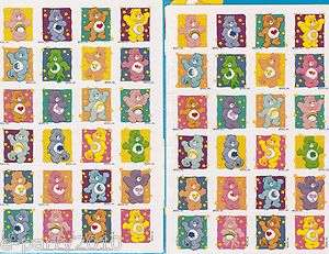 Care Bears STICKERS ~ Birthday Party Supplies FAVORS Reward Scrapbook