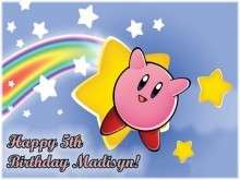 KIRBY NINTENDO Edible CAKE Icing Image Topper Birthday