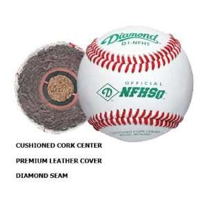 Diamond D1 NFHS Official Leather Baseballs (DOZEN) Sports