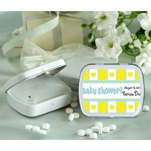 Wedding Favors Yellow Heart Theme Gift Wrap Personalized Glossy White