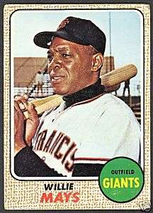 1968 TOPPS BASEBALL 50 WILLIE MAYS SAN FRANCISCO GIANTS