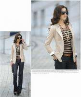 Korea OL Womens/Ladies Slim Business Suit Double breasted Jacket