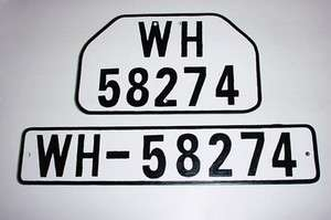 GERMAN ARMY WWII WW2 REPRO VEHICLE CAR TRUCK LICENSE PLATES tags