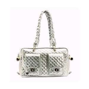 Kwigy Bo Dog Carrier Silver Alex Luxe
