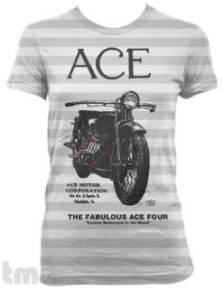 Vintage ACE Four MOTORCYCLE American Apparel T Shirt