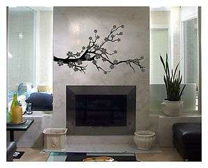 CHERRY BLOSSOM VINYL DECAL STICKER WALL ART TREE FLOWER REMOVABLE
