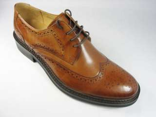 Men Lace Up Wing Tip Oxfords Leather Dress Shoes