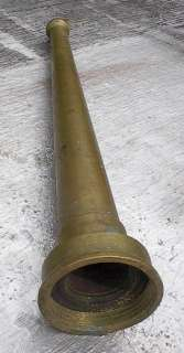 Antique Brass Fire Hose Nozzle 12 Tall Old Vintage Truck Fireman