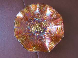 Imperial Grape Bowl Pretty Marigold Carnival Glass