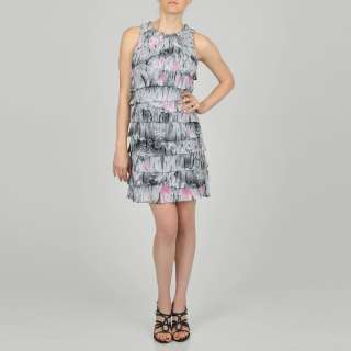Fashions Womens Multi Tiered Printed Dress
