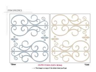 Window Door Pattern Adhesive Removable Wall Decor Accent GRAPHIC