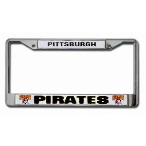 MLB Pittsburgh Pirates Car Truck SUV Chrome License Plate