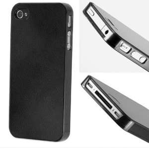 Luxury Ultra Slim Black Leather Case + Anti Glare Screen