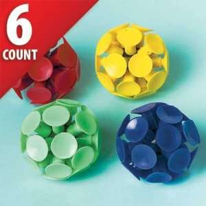 Suction Cup Balls 6ct Toys & Games