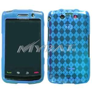 Baby Blue Argyle Pane Candy Skin Cover for BlackBerry 9550
