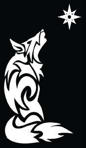 Tribal Wolf 1 Howling Vinyl Die Cut Decal   18 colors