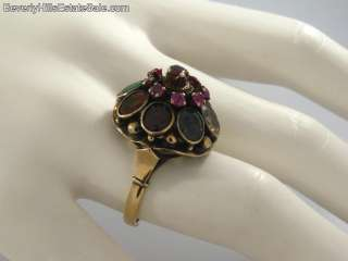 Antique 14k Multi Gem Princess Ring