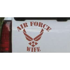 20.4in    Air Force Wife Military Car Window Wall Laptop Decal Sticker
