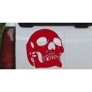 6in X 6.3in Red    Skull Front View Skulls Car Window Wall