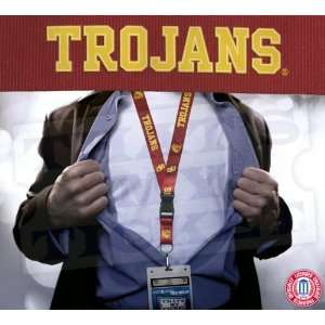 USC Trojans NCAA Lanyard Key Chain and Ticket Holder Sports