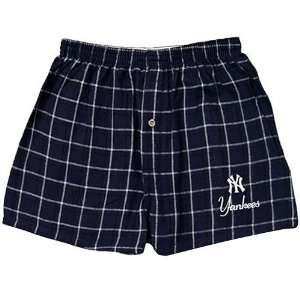 New York Yankees Navy Blue MLB Game Day Boxer Shorts