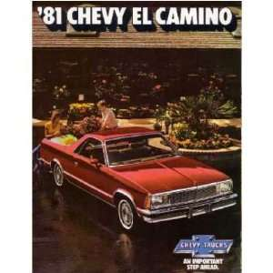 1981 CHEVROLET EL CAMINO Sales Brochure Literature Book