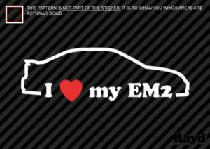 Love my EM2 Sticker Decal Die Cut Vinyl #2