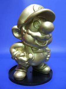 Super Mario Bros Gold Statue Figure Nintendo Game Japan Limited Promo