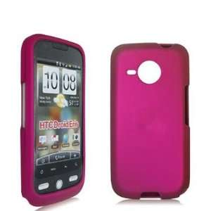 Hot Pink Rubberized Snap On Hard Skin Case Cover for HTC