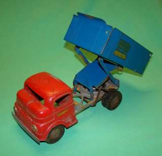 DIECAST METAL & PRESSED STEEL DUMP TRUCK WIND UP TOYLAND No 844 X77