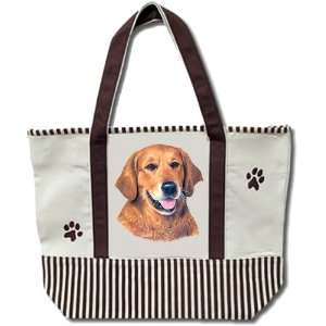 Golden Retriever Dog 20 x 15 Shopping Tote