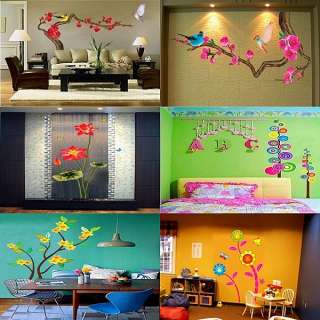 DIY Removable Wall Decals Decor Art Flower Tree Large Vinyl Mural Wall