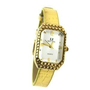 Swarovski Crystallized Metallic PU Leather Strap Womens Fashion Watch