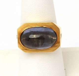 LOVELY VINTAGE 14K GOLD, SAPPHIRES & DIAMONDS BAND RING