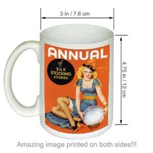 Silk Stocking Stories Vintage Pin Up COFFEE MUG Girl Art