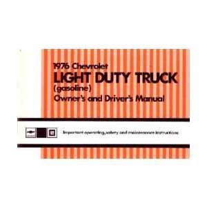 CHEVROLET LIGHT DUTY TRUCK Gas & VAN Owners Manual Guide Automotive