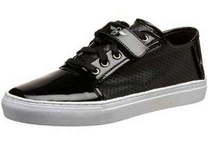 RECREATION Mens Black Patent Porello Shoes Fashion Sneakers MSRP $90