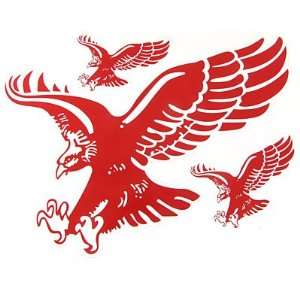 Amico Red White Flying Eagle Design 2D Window Decal Sticker Sheet for