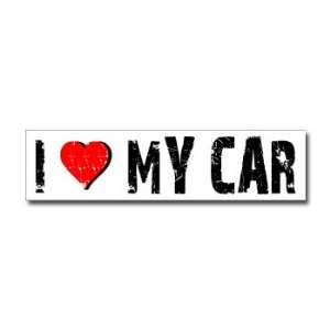 I Love My Car   Window Bumper Sticker Automotive