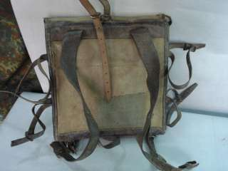 WWII ORIGINAL GERMAN INFANTRY SQUARE BACKPACK
