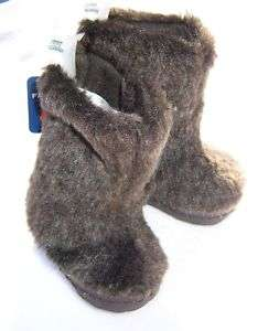 Baby Girls Infant Brown Fur Boots 3 6 9 12 months NWT