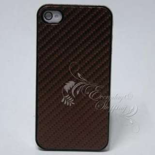 Fashion design hard cover case For Iphone 4G 4S brown color W2