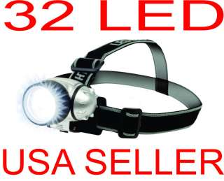 32 LED Headlamp Headlight Torch lamp Hiking, Ultra Bright LED 3