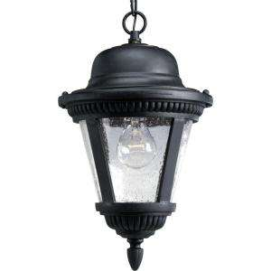 Progress Lighting Westport Collection Textured Black 1 light Hanging