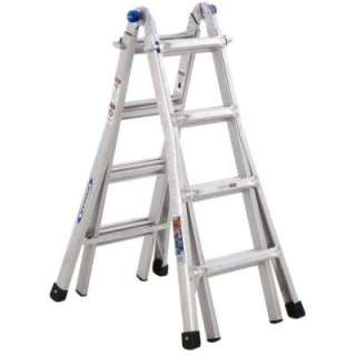 Werner17 ft. Aluminum Twin Step Ladder 300 lb. Load Capacity (Type IA