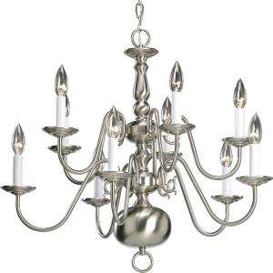 Progress Lighting Americana Collection Brushed Nickel 10 light